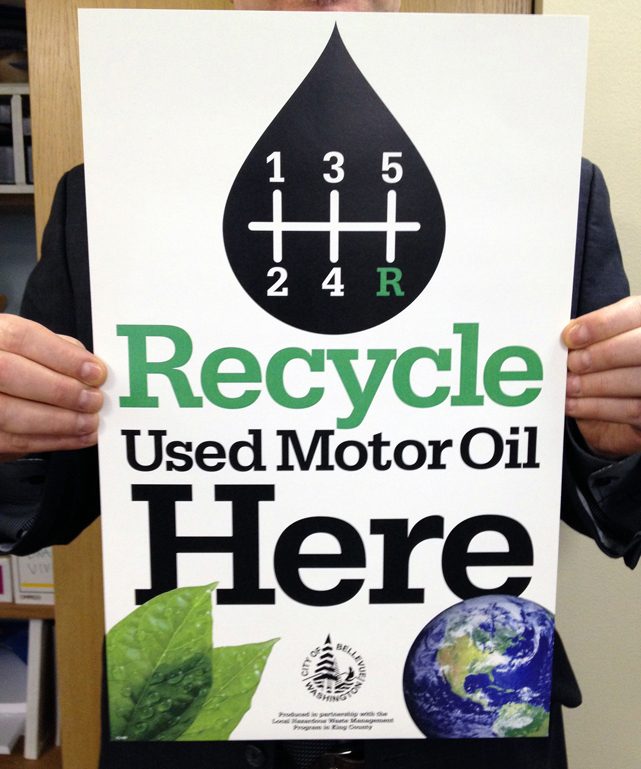 Vivitiv Recycle Motor Oil Here Poster